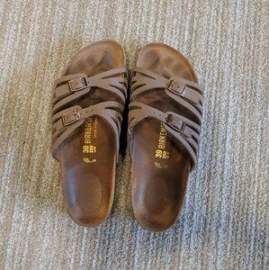 Lightly worn birkenstock sandals size 39
